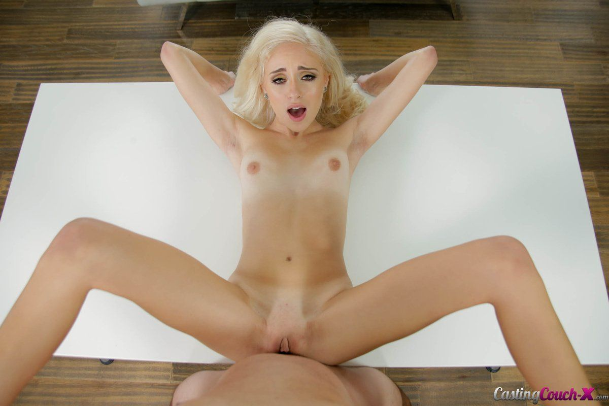 best of Blonde casting couch petite