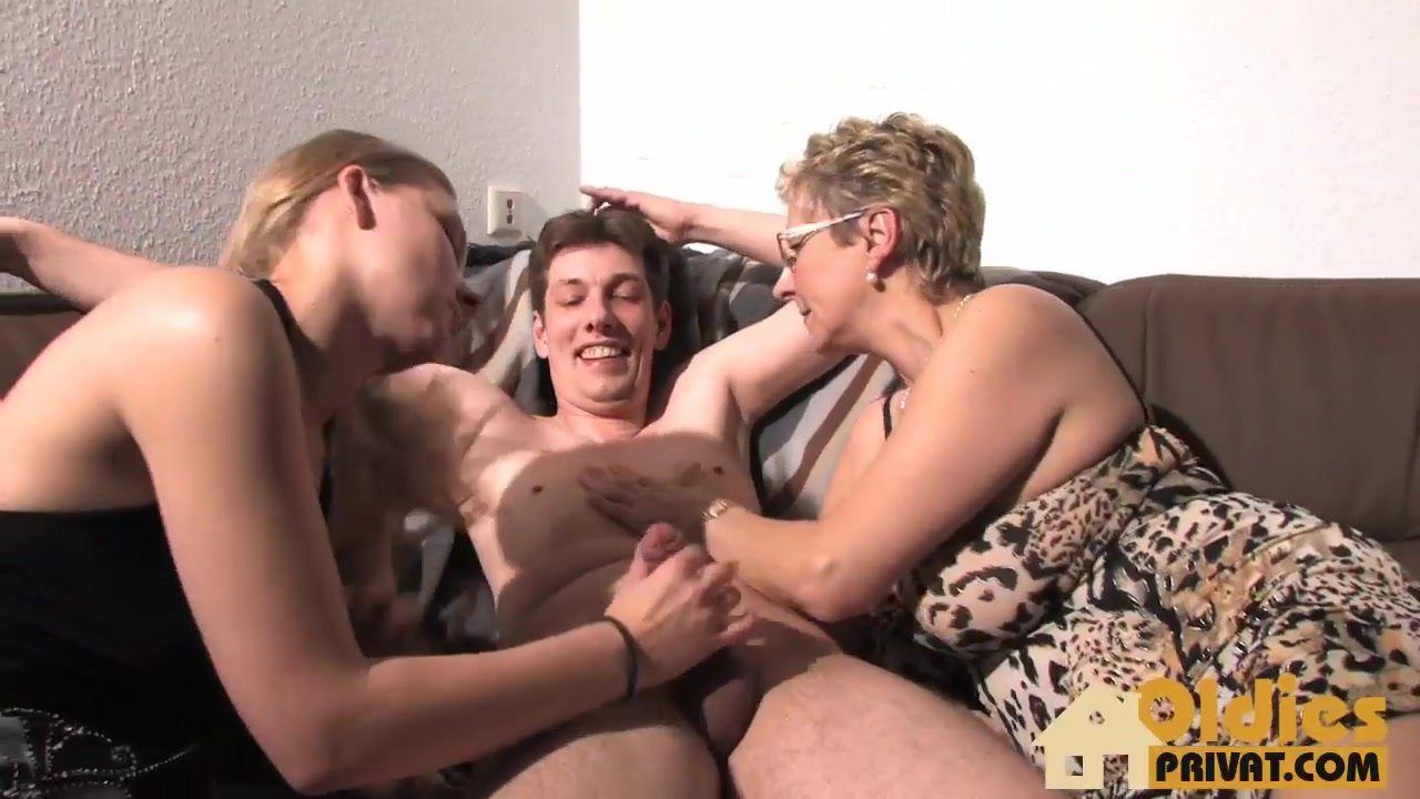 best of In on Grannies threesomes