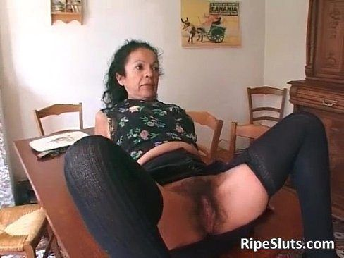 Hairy in pantyhose